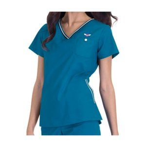 SM & XL Koi Medical Scrub Top 113